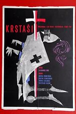 BLACK CROSS FORD POLISH 1960 RARE EXYU MOVIE POSTER