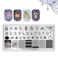 BORN PRETTY Stamping Template Nail Art Stamp Plates Pumpkin Stripe Halloween DIY