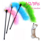 2/3Pcs New Cat Pet Teaser Feather Interactive Fun Stick Toy Wire Chaser Wand