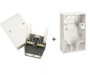 Dual Cooker / Appliance Cable Outlet Plate PRW217 & Pattress Surface Box PRW218
