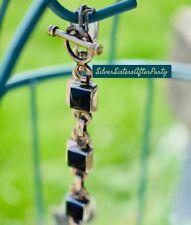 Silpada RARE Square Black Onyx Bracelet .925 Sterling Silver Stone Link B0568
