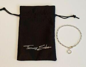 Thomas Sabo Sterling Silver Small Link Charm Club Bracelet 16.5cm X0163