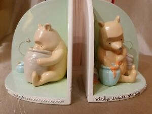Disney's Winnie the Pooh Wooden Bookends  'Sticky Treats are the Best'