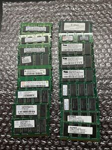 Computer Memory lot of (18) DDR2 512MB 256MB SODIMM laptop Memory PC2