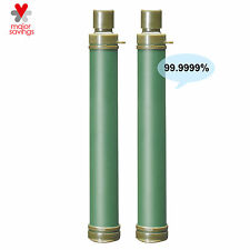 2x Survival Water Filter Straw Outdoor Emergency Purifier Hiking Camping