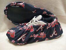 MLB Atlanta Braves bowling shoe covers.Men's size 10-12.Cotton with vinyl soles