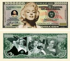 MARILYN MONROE MILLION DOLLAR BILL  FAKE-MOVIE MONEY NOVELTY ITEM COMMEMORATIVE