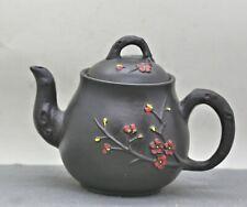 Lovely Vintage Handmade Chinese Yixing Zisha Plum Blossom Teapot c1960s