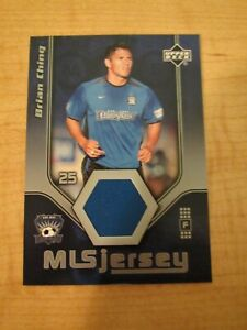 2005 Upper Deck MLS Jersey Brian Ching #BC-J San Jose Earthquakes