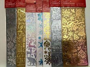 Docrafts. Xmas Christmas Card Making / Scrapbooking Xmas Stickers Embellishments