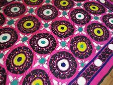 Large Silk Embroidered Handmade Suzni Suzani Uzbek Uzbekistan Size 7'4''x9'8''
