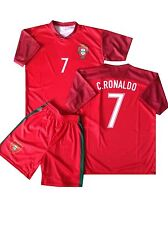 Portugal Fanshirt & Shorts Ronaldo Kinder trikot shirt Lieferung vor Weihnachten