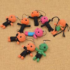 Cute Voodoo Doll Pendant for Keychains Keyring Bags Mobile Phone Gift Random 1pc