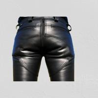 Mens Cowhide Real 100% Leather Pants Designs Bikers Motorcycle  Pant