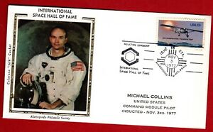 Michael Collins is inducted into Space Hall of Fame 11/3/77 - Colorano