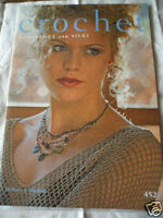 vintage pattern book crochet Lyscordet and Silky Twilleys No 452 tops hat bag