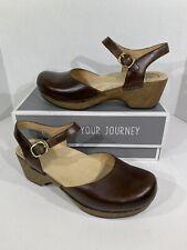 Dansko Sam Women's Size 9.5-10 (EU40) Teak Vintage Leather Mary Jane Shoes X4-9