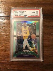 2019-2020 Lebron James Panini Prizm Green PSA 10 GEM Mint #129 Lakers