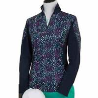 Page & Tuttle Women's Mock Neck Pullover  Casual Golf  Outerwear Navy Womens -