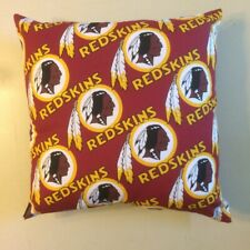 INCREDIBLE 15 x 15 NFL FOOTBALL WASHINGTON REDSKINS COMPLETE PILLOWS - 5 STYLES