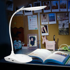 Portable Foldable USB Rechargeable Study Desk Table Reading LED Light Lamp White