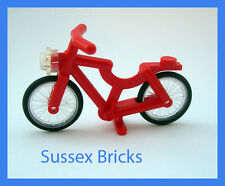 Lego City Town - Red Bicycle Bike Riding Cycle Minifigure - Brand New Pieces