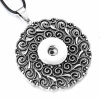 Snap Jewelry Necklace Pendant Metal Life Tree Style Snaps Button Fits 18mm Charm