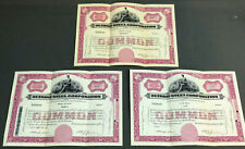 1953-55 Common Stock Certificates - Detroit Steel Corporation - Scripophily