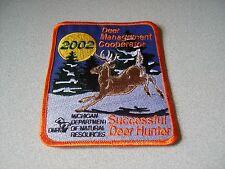 2002 MICHIGAN SUCCESSFUL DNR DEER HUNTING PATCH - BEAR - TURKEY - ELK