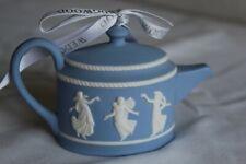 New listing Rare Wedgewood Pale Blue Jasperware Teapot Dancing Hours Christmas Tree Ornament