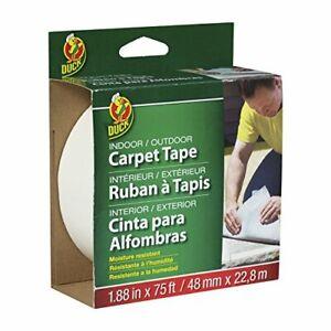 Duck Brand 442062 Indoor/Outdoor Carpet Tape, 1.88-Inch x 75 Feet, White