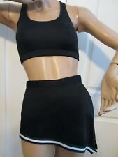 Nike Dri Fit Sports Bra Skirt Black Sexy Cheerleader Skirt  Outfit Adult M Med