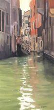 "NEW ELAINE MARSTON ORIGINAL ""Venice Canal Scene I"" Italy Gondola River PAINTING"