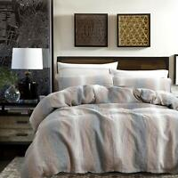 NTBAY 3 Pieces Duvet Cover Set 100% Stone Washed French Linen Durable Breathable