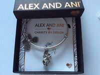 Alex and Ani Unicorn Bangle Bracelet Rafaelian Silver NWTBC