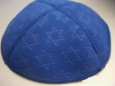 Suede Kippah with Star of David embossed pattern  NEW