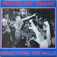YOUTH OF TODAY - BREAK DOWN THE WALLS RED VINYL LP (GORILLA BISCUITS, SHELTER)