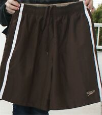 SPEEDO BOARD SHORTS SWIM SUITS NWT MEDIUM  BROWN STRIP