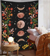 Psychedelic Moon Starry Tapestry Flower Wall Hanging Room Sky Carpet Tapestries
