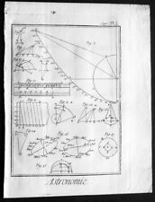 1760 Denis Diderot Antique Astronomical Print from Encyclopédie (35101)