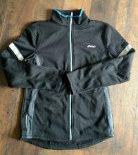 ASICS Men's Full Zip Strerch Fleece Black Running Jacket NWT Size S $95