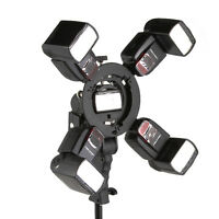 5in1 Flash Bracket S-Type Bowens Mount Handle Holder for Speedlite Snoot Softbox