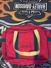 Vintage 90's ESPRIT Large Pink Canvas Logo Tote Bag Shoulder Book Bag GUC