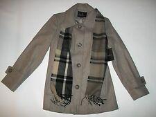 London Fog Taupe Tan Wool Blend Winter Coat W/scarf Womens Size XXL 2xl