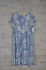 Reba Plus Size 3X Blue Multi Western Spirit Sleeveless Summer  Dress