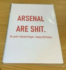Funny Arsenal Birthday Card