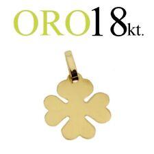 ciondolo regalo PORTAFORTUNA QUADRIFOGLIO oro 18kt. 750/1000 yellow GOLD 18kt.