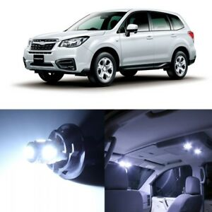 12 x White LED Interior Lights Package For 2014 - 2018 Subaru Forester +PRY TOOL