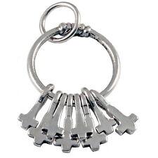 NEU Thorshammer Amulett 925 Silber Wikinger Indvik Ring Amulett m. 8 Thor Hammer