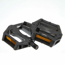 1 pair of Black Universal Bike Bicycle Pedals Reflectors Mountain Road Bike MTB